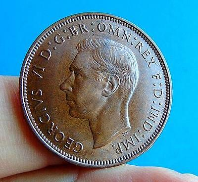 A  ROYAL  MINT  TONED  GEORGE  VI  * 1946 *  UNC  PENNY  1d ...LUCIDO_8  COIN