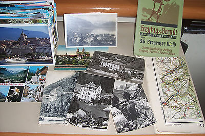Switzerland 200 postcards 1960s photo mainly plus 2 maps job lot