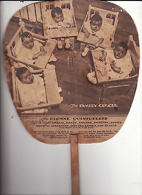 The Dionne Quintuplets Hand Fan The Family Circle May 28, 1934