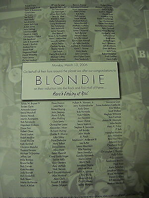BLONDIE Debbie Harry ON BEHALF OF FANS AROUNDS THE PLANET Promo Display Ad