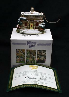 Beautiful Boxed Lilliput Lane Cottage Christmas Tree Ornament Banqueting House