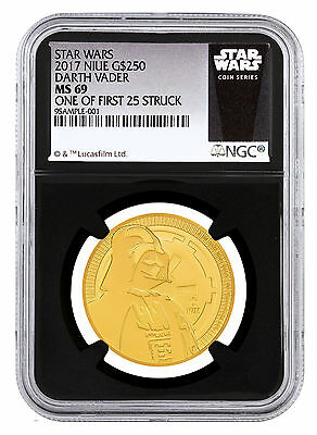 2017 Niue 1 oz Gold Star Wars Darth Vader $250 NGC MS69 1 of First 25 SKU48050