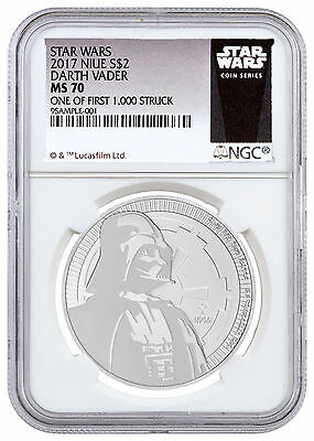2017 Niue 1 oz Silver Star Wars Darth Vader $2 NGC MS70 1/First 1,000 SKU48065