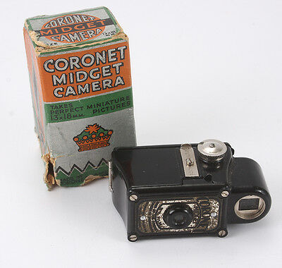 CORONET MIDGET, MIDGET, BLACK, WITH WORN BOX/cks/188343