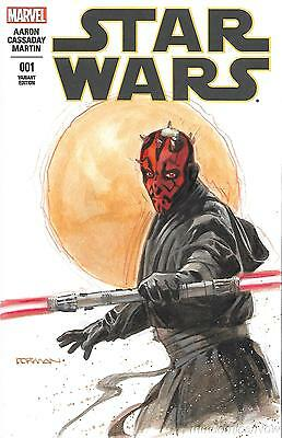 Star Wars #1 Dave Dorman Original Painted Art Cover Variant Darth Maul Marvel