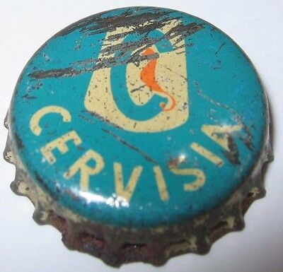 Cervisia Beer Bottle Cap; Genoa, Italy; Used Cork