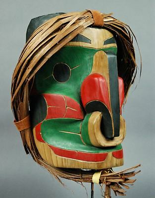 Big! Vintage HAWKMAN MASK Native Northwest Coast NWC Indian NWC MIKE SAWYER