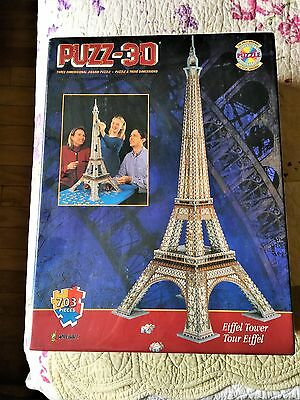 3D Eiffel Tower Jigsaw Puzzle 703 Pieces Sealed Over 3 Feet Tall
