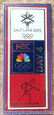 2002 Salt Lake City Olympics X-Country NBC media pin dated