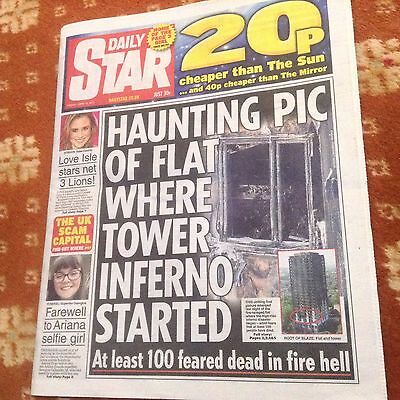 Daily star newspaper Friday June 16th 2017 London tower fire