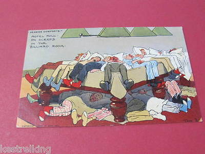Seaside Comforts Tom Browne Tom B Original Artist Drawn Comic Postcard