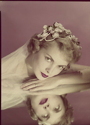 JANET LEIGH Beautiful Glamour Pose Original Photo TRANSPARENCY John Engstead