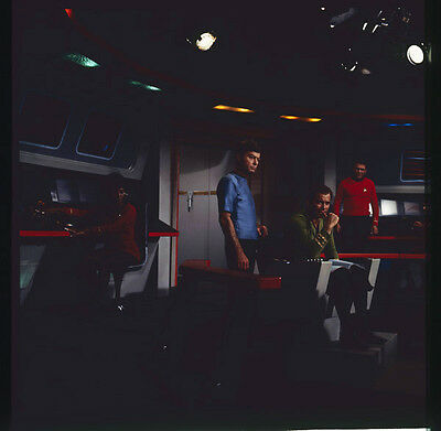 STAR TREK Original 2.25 x 2.25 Color Photo TRANSPARENCY William Shatner cast TV
