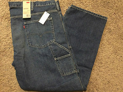 Nwt Levis Mens Big & Tall Carpenter Loose Straight Fit Jeans 60X32 Msrp$68