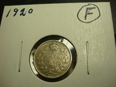 1920 - Canada five cent - Silver Canadian nickel - Nice Coin