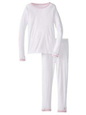 737ef977fc86 CUDDL DUDS GIRL White Chill Chaser Thermal Underwear Base Layer ...