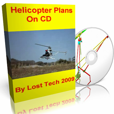 Build Your Own Ultralight Helicopters 5 Different Plans On Cd