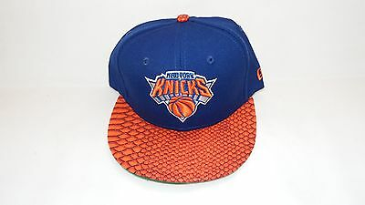 Nwt New Era Hat Cap Fitted 59Fifty New York Knicks Size 7 Blue Pyton Visor