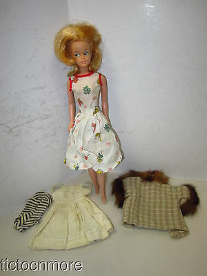 Vintage American Character Tressy Lemon Blonde Fashion Model Doll & Clothes