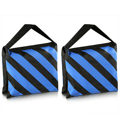 Neewer 2-Pack Black Blue Heavy Duty Sand Bag Studio Video Light Stand Sandbag
