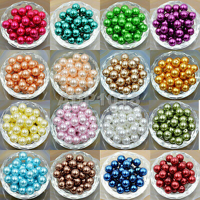 200pcs Top Quality Czech Glass Pearl Round Loose Beads 3mm 4mm 6mm 8mm 10mm 12mm