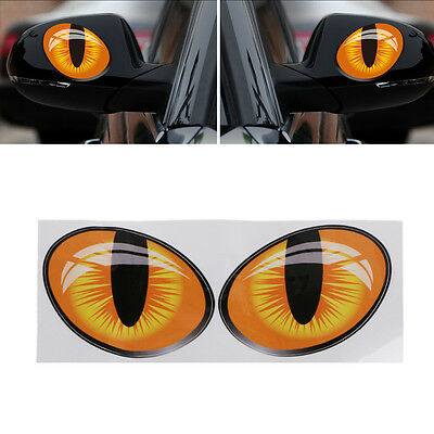 Car 3D Mirror Stickers Truck Window Decal Reflective Sticker Decals Cat Eyes