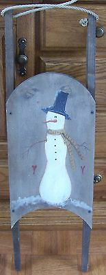 VINTAGE SLEIGH SLED DECOR HP SOLID WOOD Approx 31x9x4