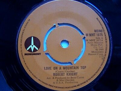 ROBERT KNIGHT - LOVE ON A MOUNTAIN TOP b/w POWER OF LOVE - NORTHERN SOUL - EX