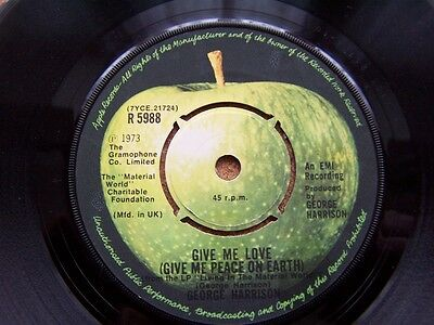 "GEORGE HARRISON Give Me Love / Miss D'Dell UK APPLE 7"" 45"
