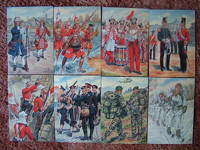 8 Card Set No 35 Military Postcards UNIFORMS OF THE ROYAL MARINES. Mint cond.