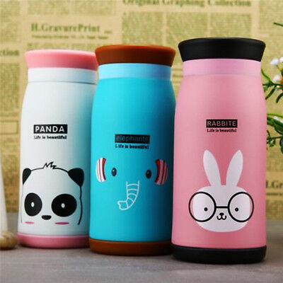 Cute Kids Thermos Cups Cartoon Insulated Drinkware Water Bottle Vacuum Flask