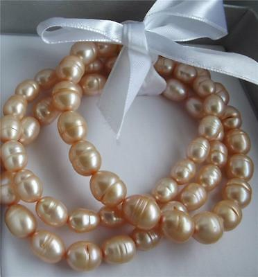 Honora Champagne Cultured Freshwater Pearl 3 Bracelets Set New Boxed Qvc