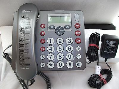 Amplicom PowerTel 58 Corded Telephone Answer Machine elderly hearing visual