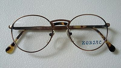 Vintage Zodiac  Glasses  Round  Frame New  Bronze 51/19   Made  In  Italy  .