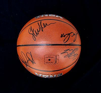 2017 NBA CHAMPS GOLDEN STATE WARRIORS TEAM SIGNED AUTOGRAPHED BASKETBALL w/COA