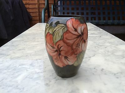 A Moorcroft Ovoid Vase in the Hibiscus Pattern 1947