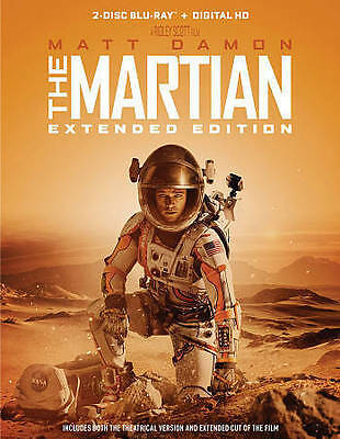 The Martian (Blu-ray Disc, 2016, 2-Disc Set, Extended Edition)
