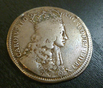 Charles II Official Silver Coronation Medallion 1661 By Thomas Simon Rare