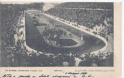 Greece 1906 Olympic Games Stadium postcard used to Italy