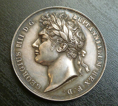 George IIII Official Sterling Silver Coronation Medallion 1821 By Pistrucci