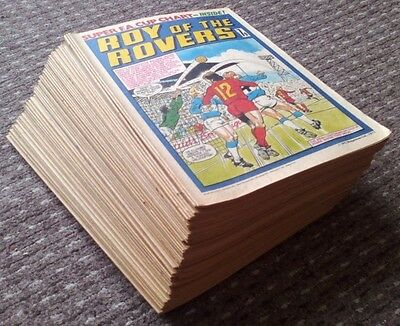 Roy of the Rovers comic 1977 (x 50). Near-full Year. VGC comics