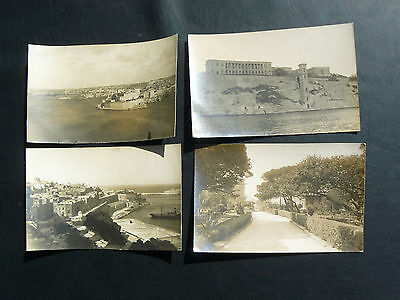 Real Photo RP Postcard showing Bighi Naval Hospital Malta & 3 others