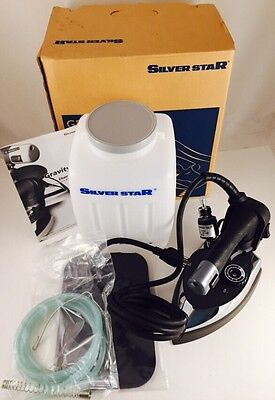 EUNSUNG Silver Star ES-300 Gravity Feed Industrial Electric Steam Iron- EUC