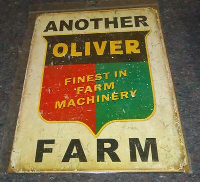 OLIVER Tractor Logo Metal Tin Sign Another Oliver Farm Fnest in Farm Machinery