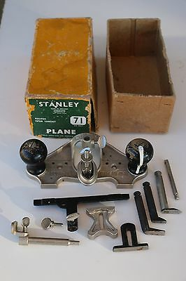 Vintage Complete Stanley No. 71 Router Plane England Box and Parts