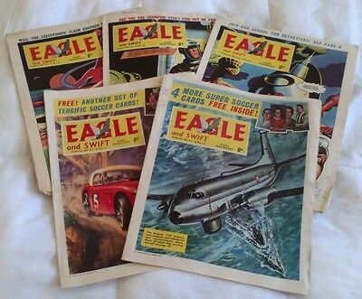 Eagle comic Vol 14 (x 5) 1963. #11 - 15. Good comics