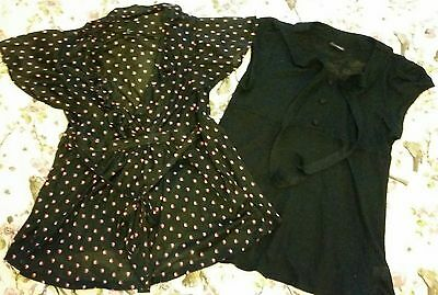 Next and h &m maternity summer tops size 14