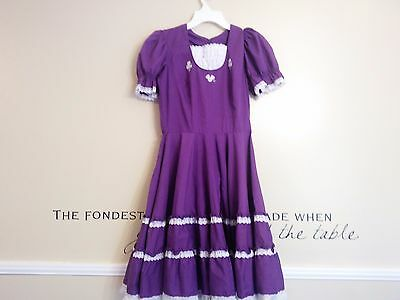 Square dance dress-Purple and white with daisies-preowned