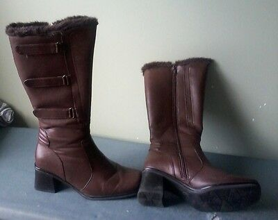 Womens Knee-High Boots Brown size 9 U.S.