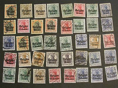 Germany Reich Offices Belgium overprints study collection